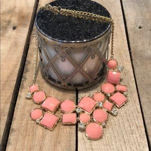 NWOT Fun Pink and Gold Statement Necklace